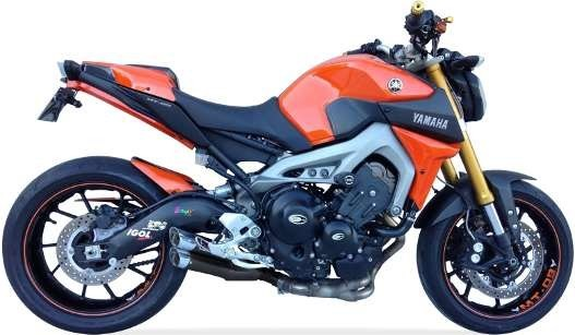 IXIL Hyperlow black XL Komplettanlage für YAMAHA MT-09, 14-, XSR 900, 16- (Euro3+4)