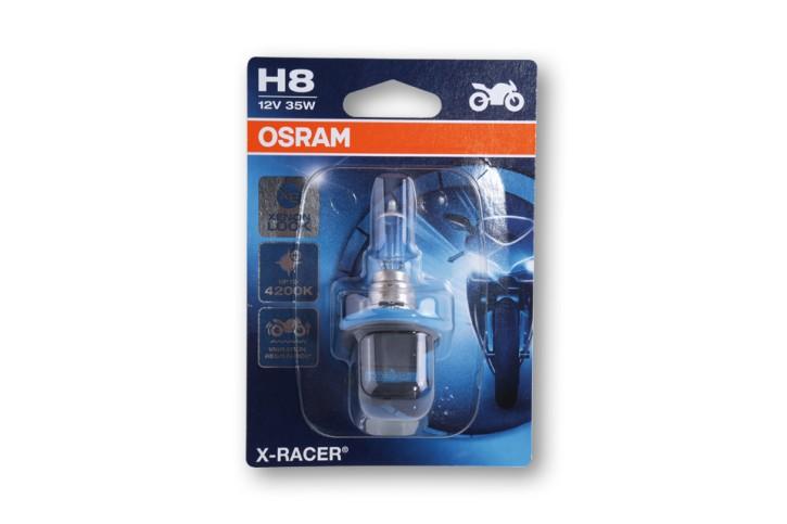 H8 Glühlampe, X-RACER, 12V 35W PGJ19-1, Vibrationsfeste Technologie, Abblendlicht