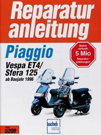 Motorbuch Engine book No. 5209 repair instructions Piaggio Scooter Sfera 125/Vespa ET 4, 96-