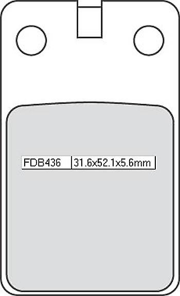 FERODO Bremsbelag FDB 436 Platinum