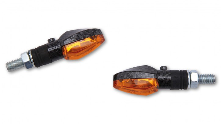 SHIN YO Indicator light LIZZARD, carbon, amber lens, pair