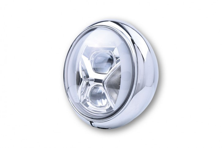 HIGHSIDER 7 inch LED headlamp HD-STYLE TYPE 8 with DRL, bend light