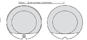 FERODO Disc brake pad FDB 119 P