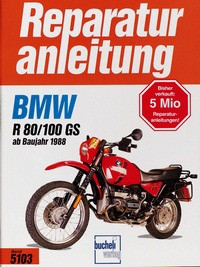 No. 5103 repair instructions BMW R 80/100 GS 88-97