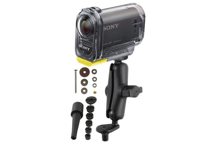 RAM Mounts Motorrad-Kamerahalterung mit 1/4 Zoll-20 Gewindestift - mit Lenkervorbaubasis