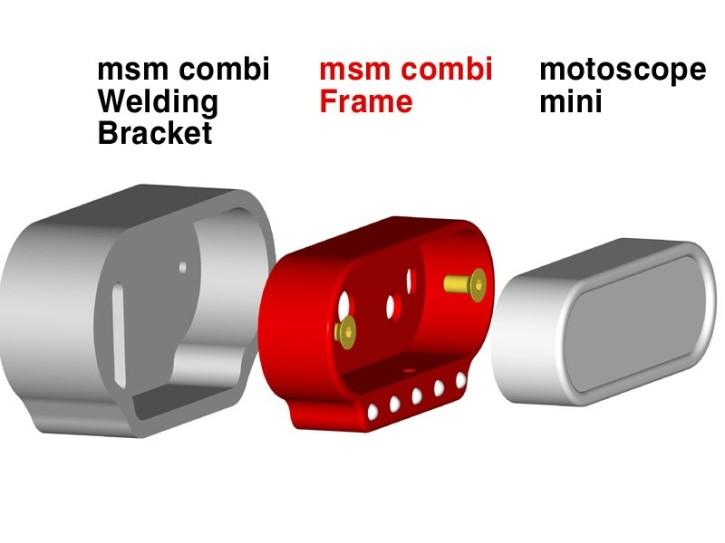 motogadget Msm combi welding bracket