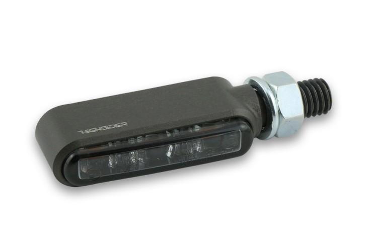 HIGHSIDER CNC LED indicator BRONX, titanium, tinted glass