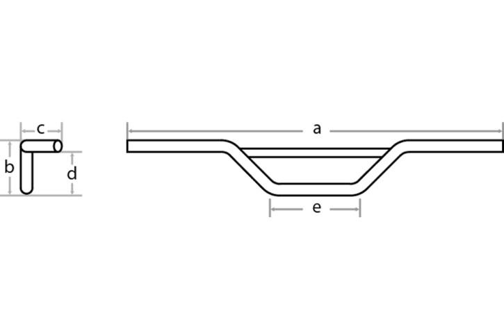 FEHLING Handlebar Moto Cross 7/8 inch, 88 cm, black