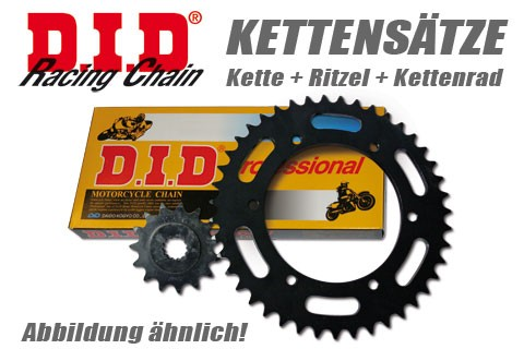 DID Kette und ESJOT Räder DID chain and ESJOT sprocket ZVMX chain kit 749 S, 04-07, alu sprocket