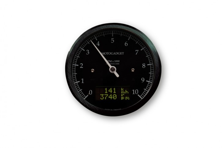 motogadget Motoscope classic Drehzahlmesser DarkEdition -10.000 U/min