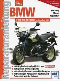 Motorbuch Engine book No. 5265 repair instructions BMW R 1150 Rockster, 03-