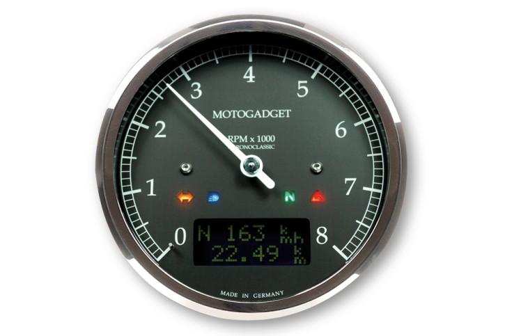 motogadget Motoscope classic rev counter dark edition 8.000 RPM