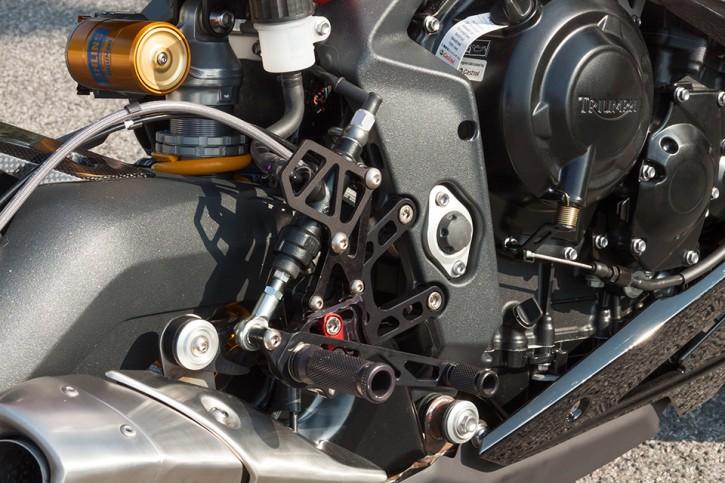 LSL 2Slide Rastenanlage Daytona 675 13 -, für Quick Shifter, Fixierstück rot