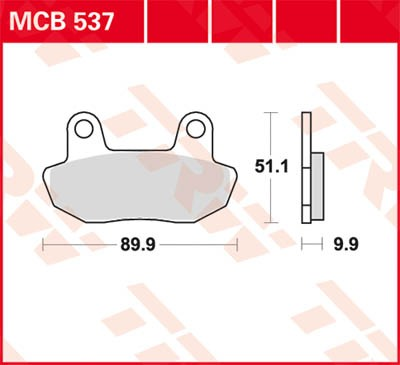 TRW Lucas Bremsbelag MCB537