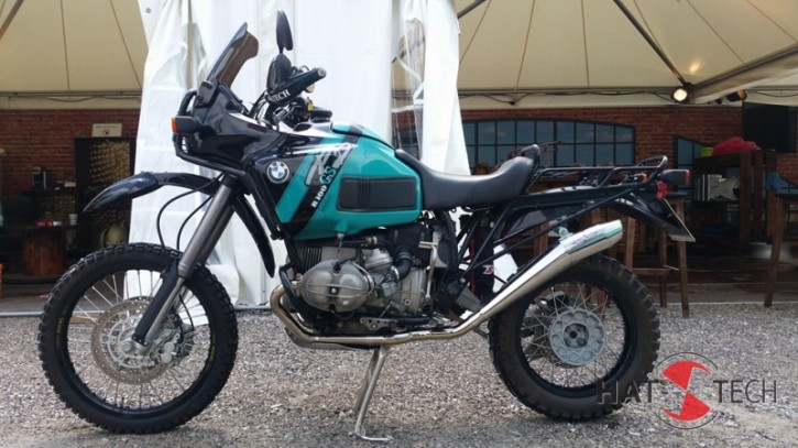 "SILENCER ""Paris Dakar 85"" by HATTECH, stainles steel, with ""EG-ABE"" f. BMW R80 / R100 GS"