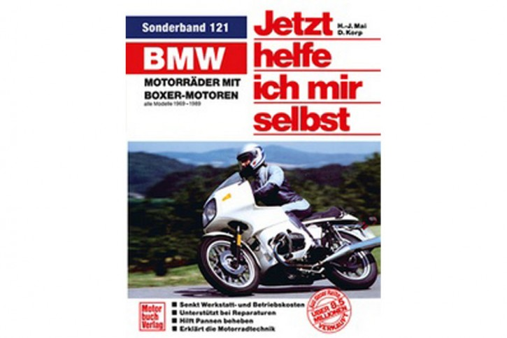 Motorbuch Engine book Now I help myself, Volume 121, BMW motorcycles with boxer engines - all models 1969-1989