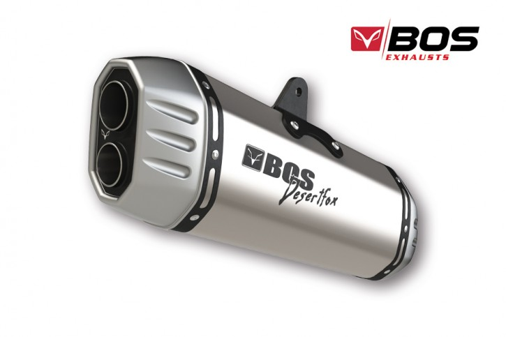 BOS Silencer Desert Fox, stainless steel for BMW R 1200 GS, 17-