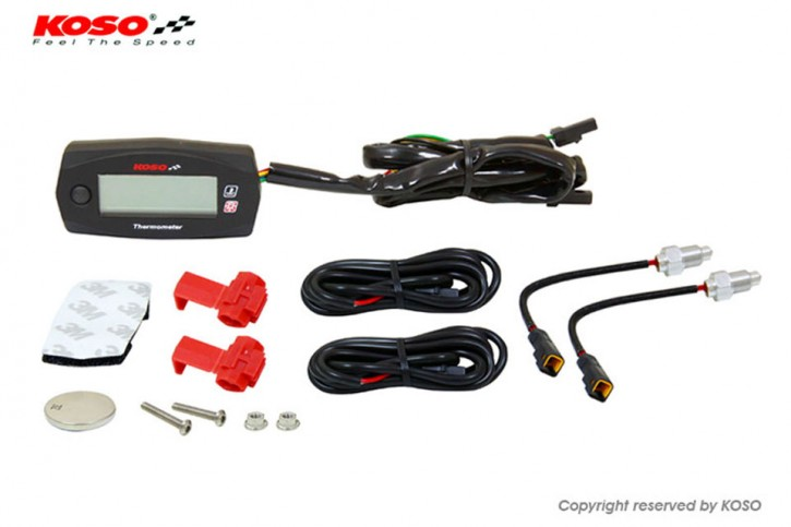 KOSO Dual Thermometer Mini 4 (Batteries) to 250 degrees