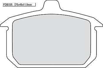 FERODO Disc brake pad FDB 335 P