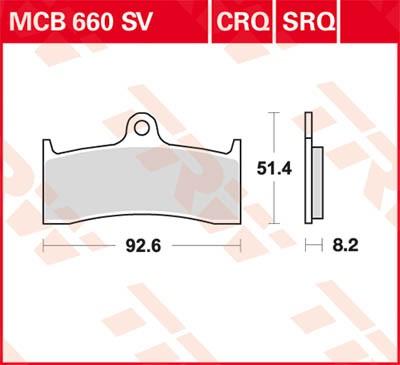 TRW Lucas Sinter disc brake pad MCB660SV