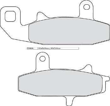 FERODO Disc brake pad FDB 606 P
