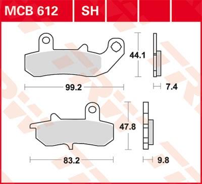 TRW Lucas Sinter disc brake pad MCB612SH