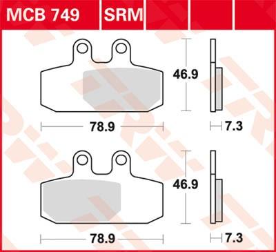TRW Lucas Bremsbelag MCB749