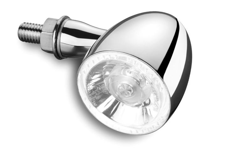 Kellermann LED-Blinker-/Positionsleuchte Bullet 1000 PL white, chrom-glänzend, klares Glas