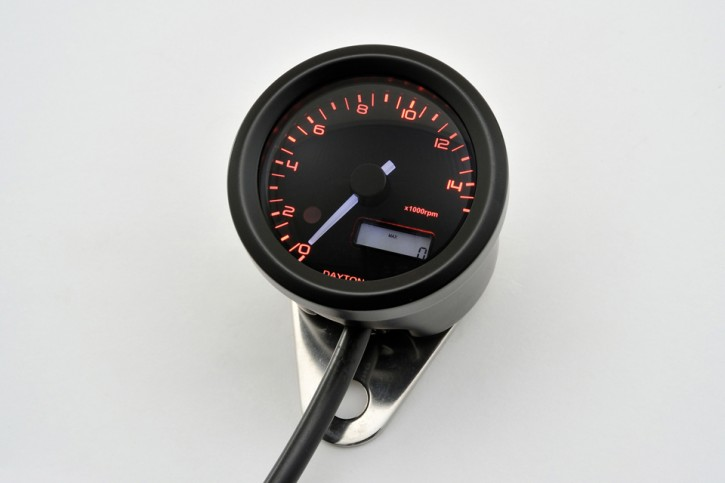 DAYTONA Digital tachometer VELONA, black, Ø 48mm, 15.000 RPM
