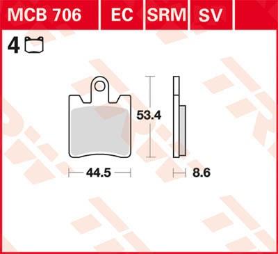 TRW Lucas Sinterbelag MCB706SV