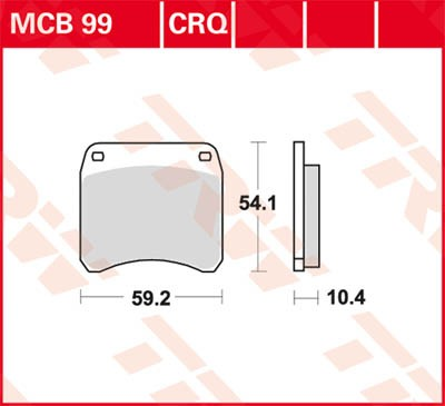 TRW Lucas Racing brake pad MCB99CRQ without homologation