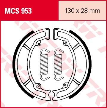 TRW Lucas Bremsbacken MCS953