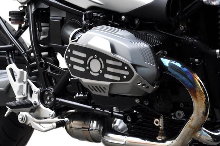 IBEX Cylinder guard, BMW R nine T 14-, silver/black