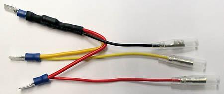 SHIN YO Widerstand mit Adapterkabel für LED-Rücklichter, 6,3 mm Flachstecker