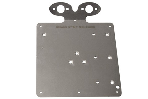Genscher Plate for license plate with 2x 255-702