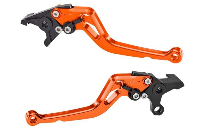 probrake Clutch- & brake lever set MIDI, orange
