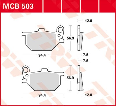 TRW Lucas Bremsbelag MCB503