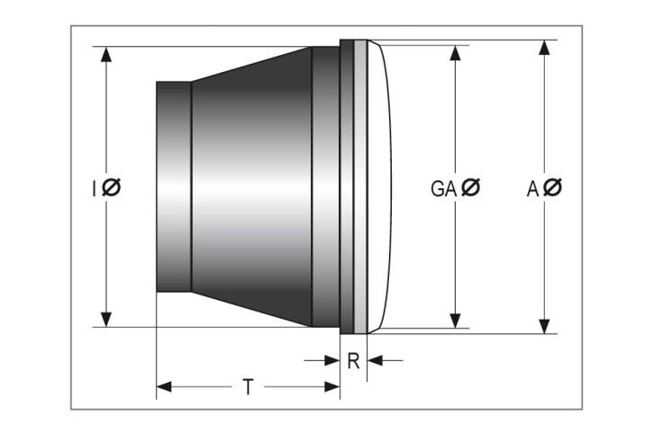 SHIN YO 4 inch LED headlight high beam insert, black