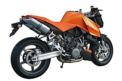 ZARD Silencer KTM 990 Superduke/R, stainless steel/alu black, + cat.