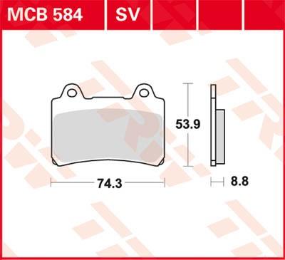 TRW Lucas Sinter disc brake pad MCB584SV