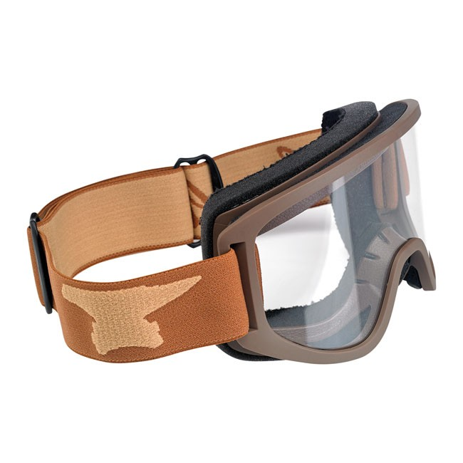 BILTWELL MOTO 2.0 goggles, brown and beige,  for spectacle wearer