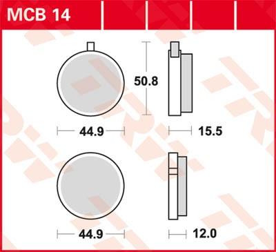 TRW Lucas Disc brake pad MCB14