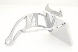 Genscher Bracket for license plate, side mount f. H-D Softail, 84-07