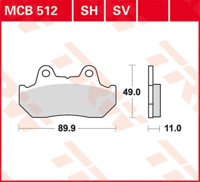 TRW Lucas Disc brake pad MCB512