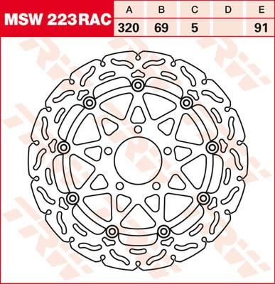 TRW Lucas Bremsscheibe MSW223RAC, schwimmend