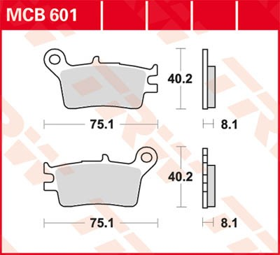 TRW Lucas Bremsbelag MCB601
