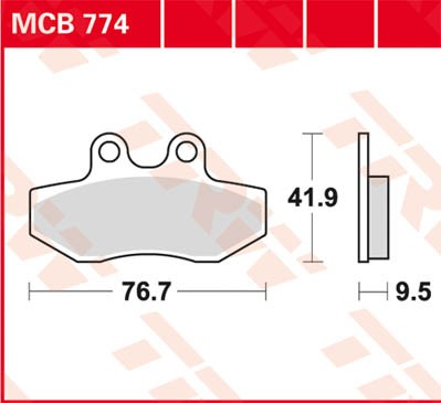TRW Lucas Bremsbelag MCB774