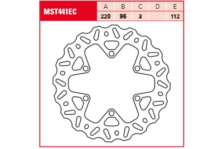 TRW Lucas Bremsscheibe MST441EC im Cross-Design