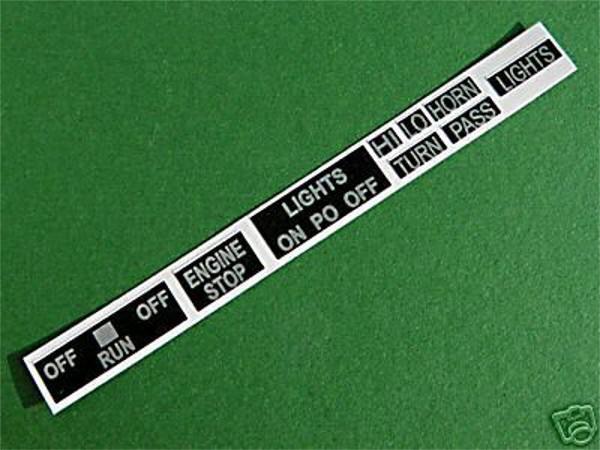 Yamaha Schalter-Armaturen-Beschriftung/Aufkleber XT/SR 500 XS650