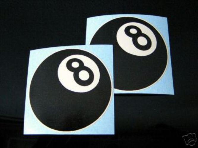 2 EIGHTBALL, 8-Ball-Sticker f.CAFE-RACER